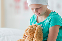 Image of child undergoing chemotherapy
